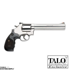 Smith & Wesson 686 Plus Talo .357 Mag Revolver- 7 Inch Barrel, Stainless, Wood Grips, 7-Round, 3-5-7 Magnum Series- Smith & Wesson 150855