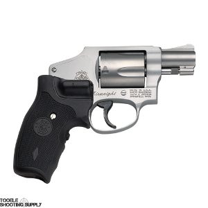 "Smith & Wesson 642 Airweight .38 Special Revolver, 1.87"" Barrel, Crimson Trace Laser Grips, Stainless Finish, 5 Round- Smith & Wesson 163811"