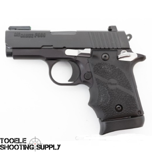 Sig Sauer P938 Sub-Compact 9MM Pistol, Rear Night Sight, TFO Front Sight, Rubber Grip, Ambi, 6 and 7 Round Mags- Sig Sauer 938-9-SPORTS13