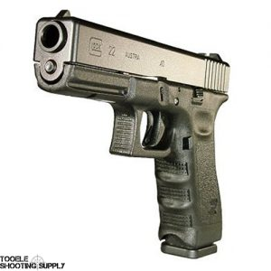 Glock 22 Gen 3 Pistol, .40 S&W, 4.49 inch Barrel, Polymer Grip, Black Finish, 15 Round, Fixed Sights- Glock PI2250203