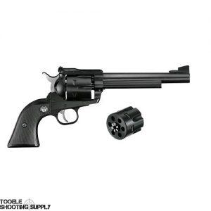 Ruger Blackhawk Convertible Revolver, .357 Remington Mag/ 9mm, 6.5 in Barrel, Black Grip, Blued Finish, 6 Rds- Ruger 0318