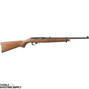 "Ruger 10/22 .22lr Semi-Auto Rifle- 18.5"" Barrel, Black Matte Finish, Birch Hardwood Stock, 10-Round Magazine- Ruger 1103"