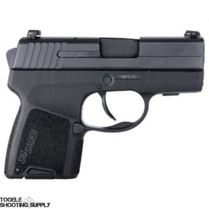 Sig Sauer P290 Sub-Compact 9mm Pistol- Re-Strike Ability, SigLite Night Sights, 6-Round and 8-Round Magazines, Holster- Sig Sauer 290RS-9-BSS