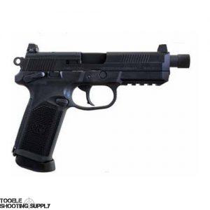"FN Herstal FNX-45 Tactical 45 ACP Pistol, Black Slide, 5.3"" Threaded Barrel, 15-Round Magazine, Matte Black Polymer, FNH 66966"
